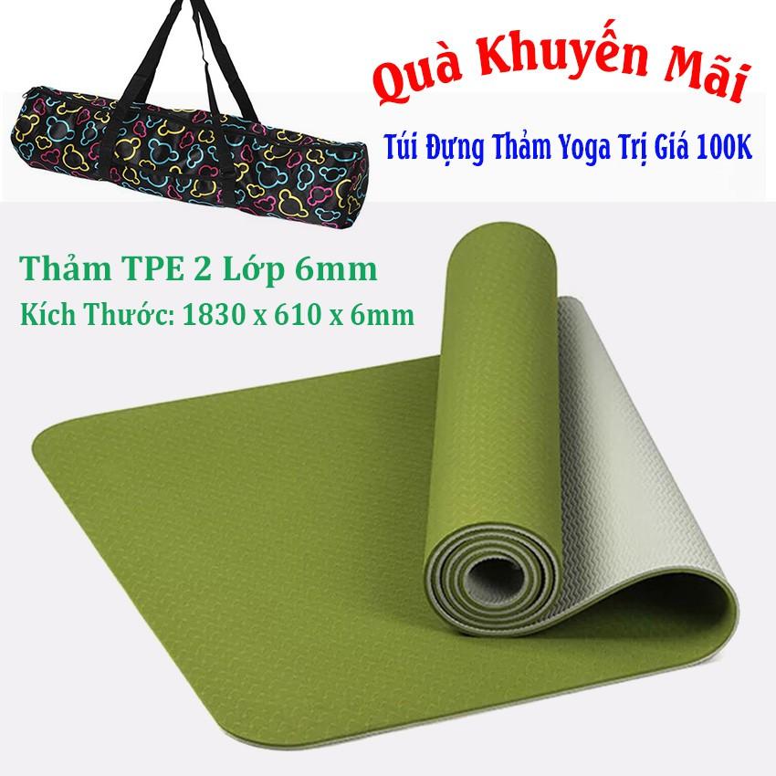 [Free Ship] Thảm Yoga 2 Lớp 6mm TPE + Túi Đựng Thảm + Dây Buộc - 2846645 , 1058373301 , 322_1058373301 , 375000 , Free-Ship-Tham-Yoga-2-Lop-6mm-TPE-Tui-Dung-Tham-Day-Buoc-322_1058373301 , shopee.vn , [Free Ship] Thảm Yoga 2 Lớp 6mm TPE + Túi Đựng Thảm + Dây Buộc