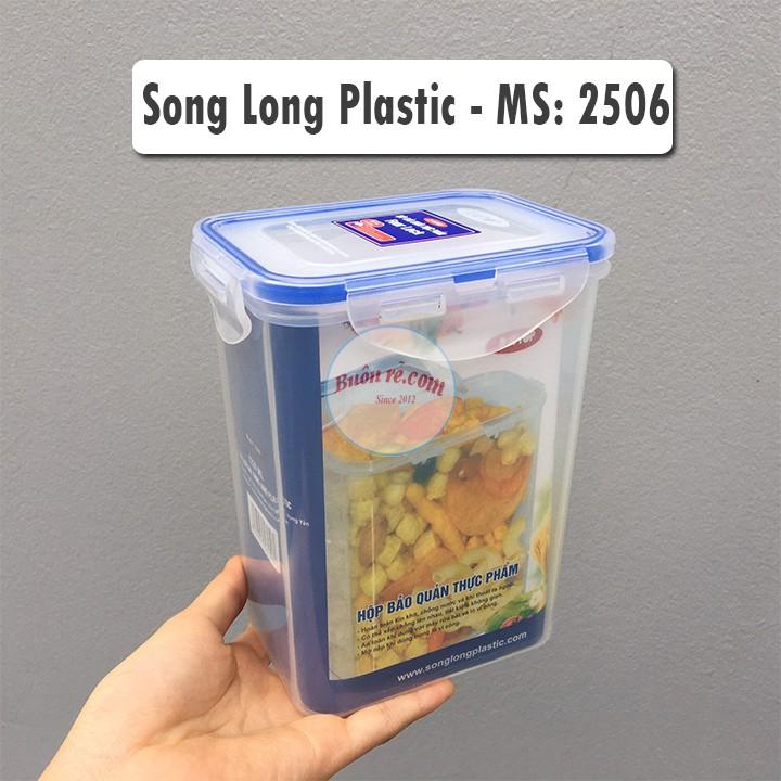 Bộ 4 hộp đựng thực phẩm Four Lock NHỰA SONG LONG có khóa cài (MS: 2503, 2504, 2505, 2506) – Buôn Rẻ