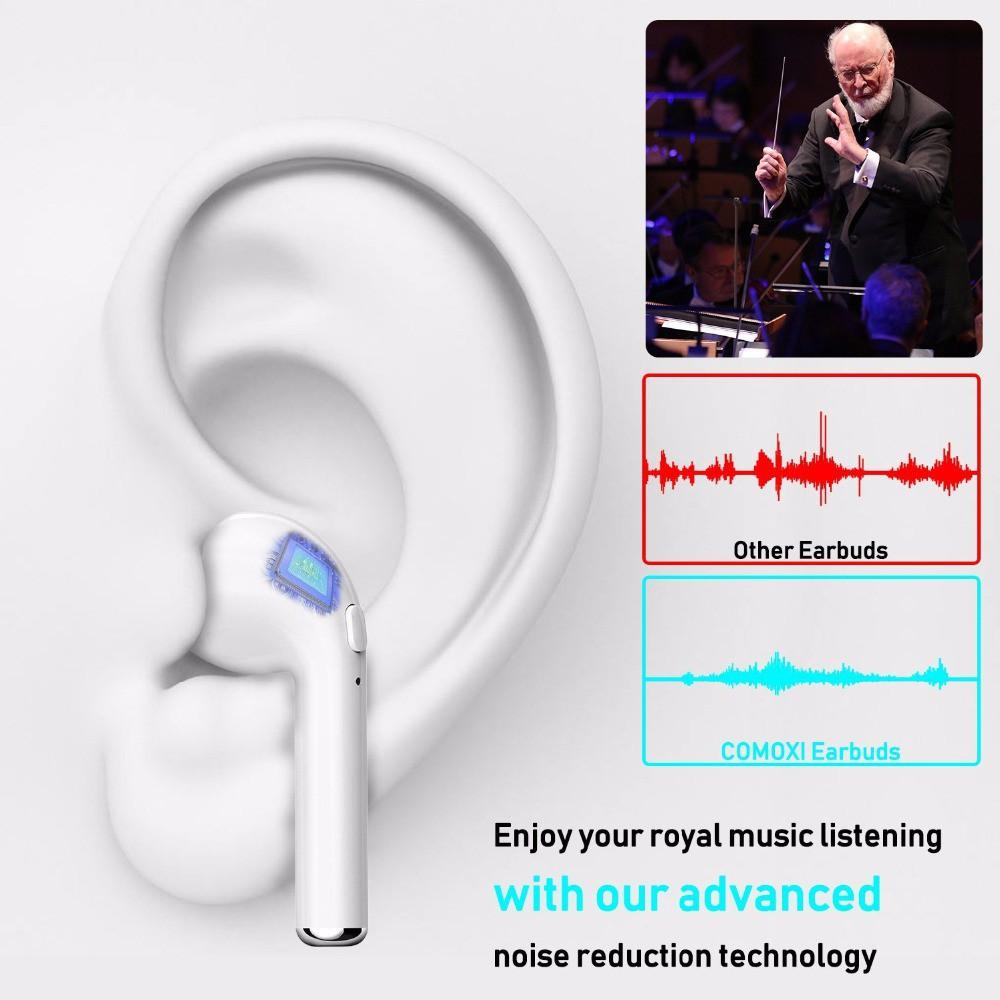 Tai nghe bluetooth v4.2 + EDR không dây nhét tai âm thanh chất lượng cao