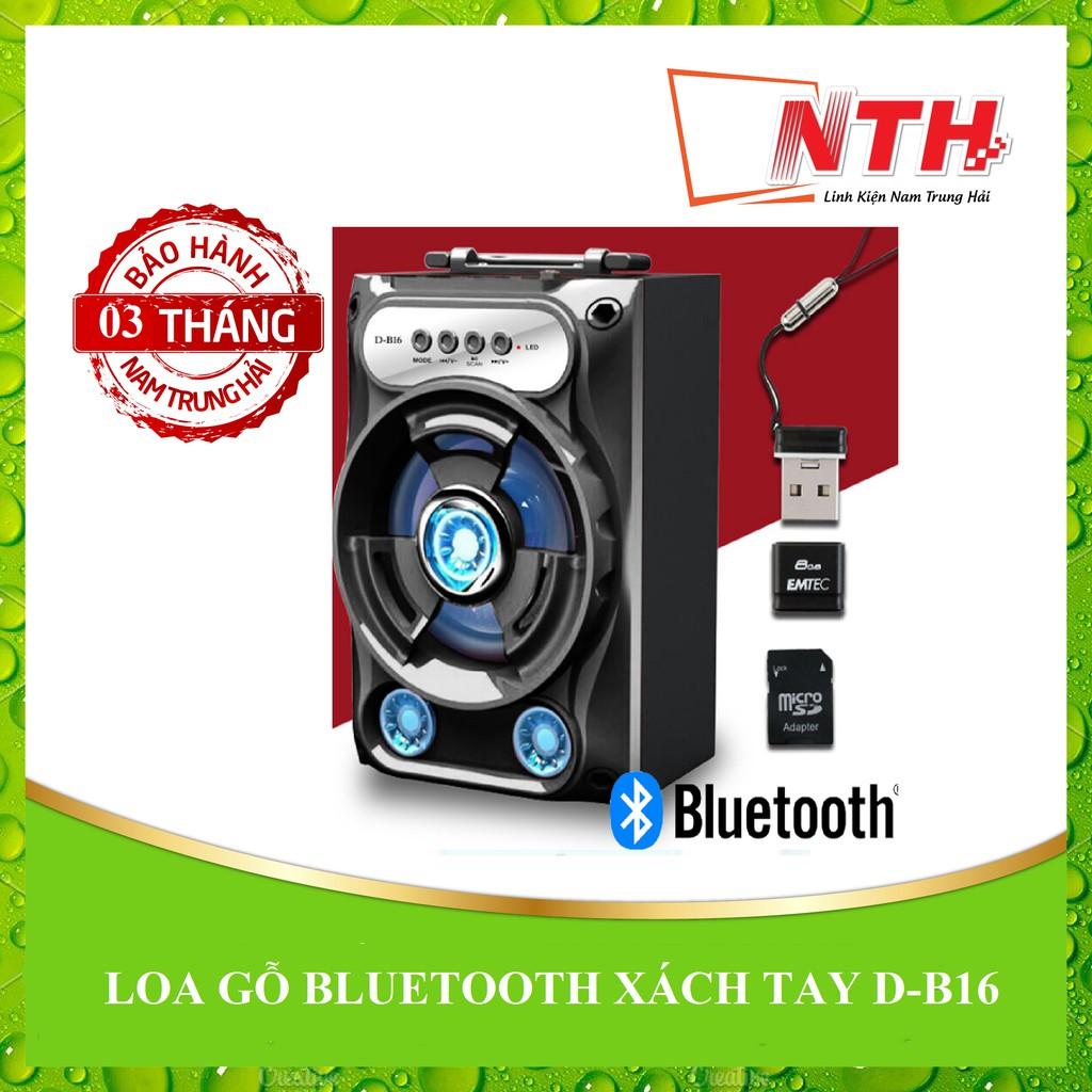 [NTH] LOA GỖ BLUETOOTH XÁCH TAY D-B16