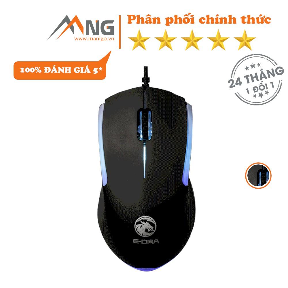 Chuột Gaming E-DRA EM602 Độ Phân Giải 1200 DPI Có Dây Bảo hành 24 tháng