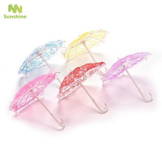 ♥♣♥ Miniature Lady Parasol Lace Umbrella Dolls' Accessories Dollhouse Decor