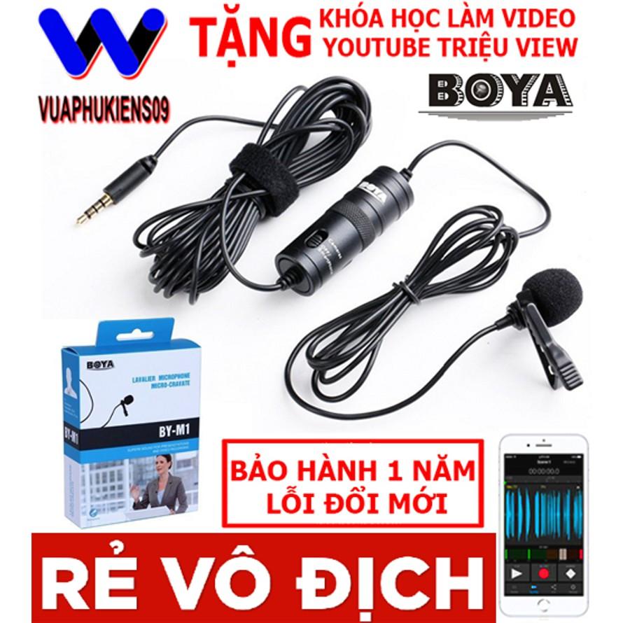 [Chính Hãng] Micro ghi âm cài áo Boya M1 dùng cho điện thoại, máy tính, máy quay