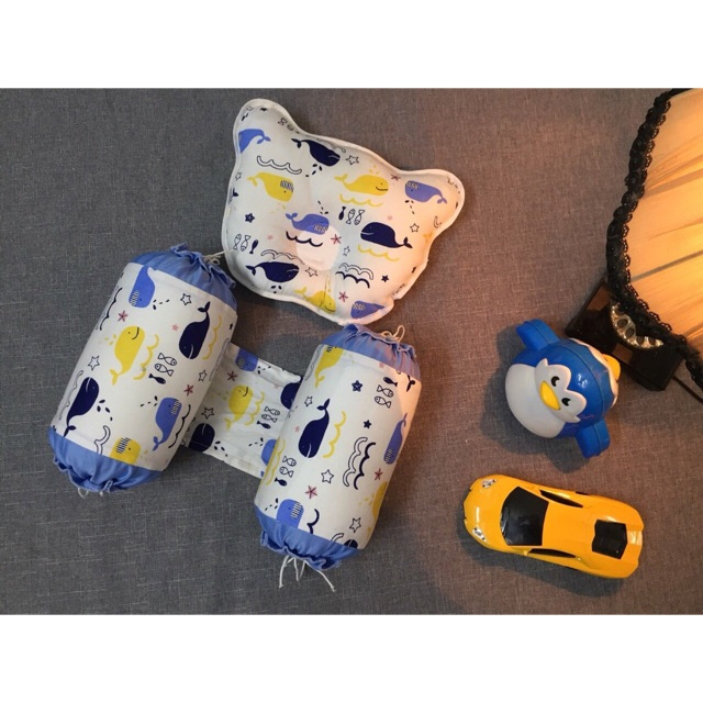 Set gối chống móp đầu và chặn cho bé sơ sinh (100% cotton) - 22721724 , 2168074741 , 322_2168074741 , 130000 , Set-goi-chong-mop-dau-va-chan-cho-be-so-sinh-100Phan-Tram-cotton-322_2168074741 , shopee.vn , Set gối chống móp đầu và chặn cho bé sơ sinh (100% cotton)