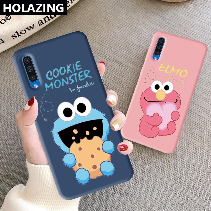 Ốp điện thoại hình Elmo/ Cookie Monster Cho Samsung Galaxy A50 A30 A50s A30s A20s A10s A51 A71 A01 A11 A80 A70s