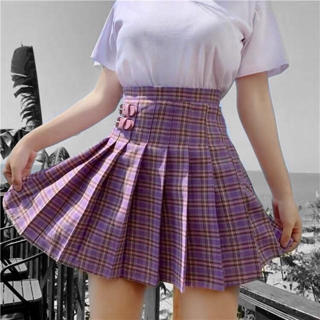 Chân váy tennis purple