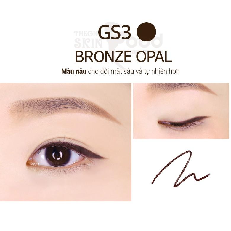 Chì kẻ mắt siêu mảnh, không trôi lem Merzy The First Slim Gel Eyeliner 03 Bronze Opal