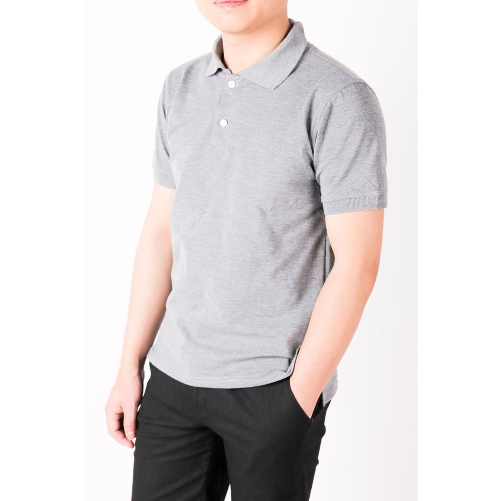 Áo phông nam áo thun nam ngắn tay có cổ màu XÁM nhạt ghi xám cao cấp ÁO polo nam cao cấp