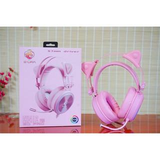 Tai nghe Gaming EDRA EH412 PRO Pink Led RGB ( Chính Hãng , New )