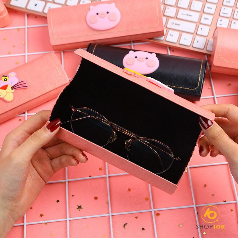 Hộp da đựng kính Sakura dễ thương