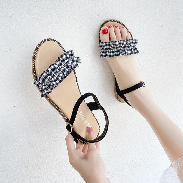 Sandal Nữ Họa Tiết Chấm Bi Đơn Giản Thời Trang