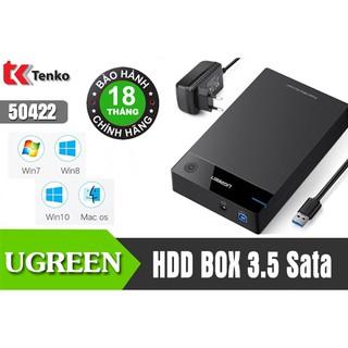 [Mã ELMSBC giảm 8% đơn 300k] Hộp đựng ổ cứng 3.5 inch Sata/USB 3.0 50422 Ugreen