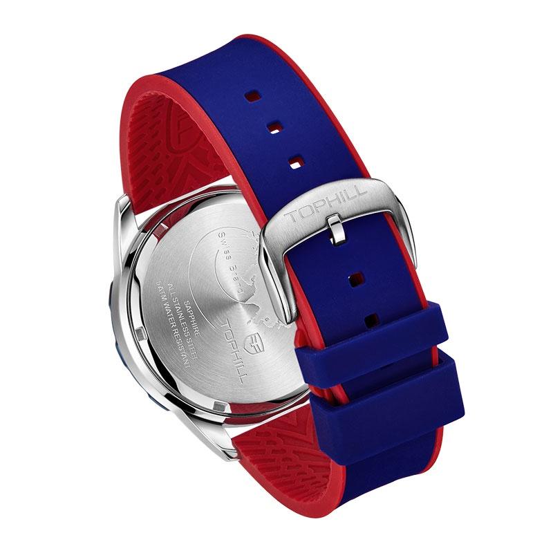 Đồng hồ nam chính hãng TOPHILL TL023G.PL1352 - Dây da - kính Saphire