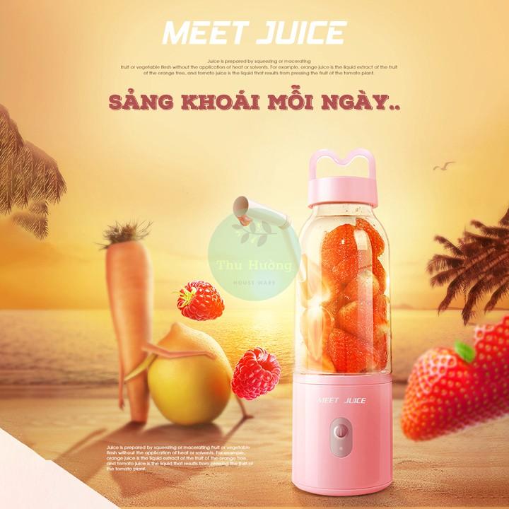 Máy xay sinh tố ✨ Trợ Ship ✨ Máy xay sinh tố cầm tay Meet Juice