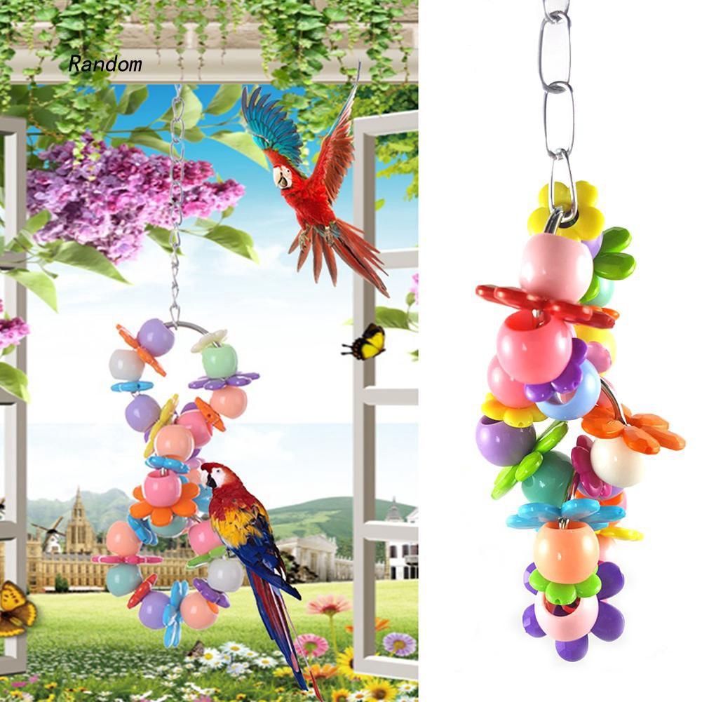 [RA]Bird Pet Parrot Parakeet Budgie Cockatiel Cage Hammock Swing Stand Hanging Toys