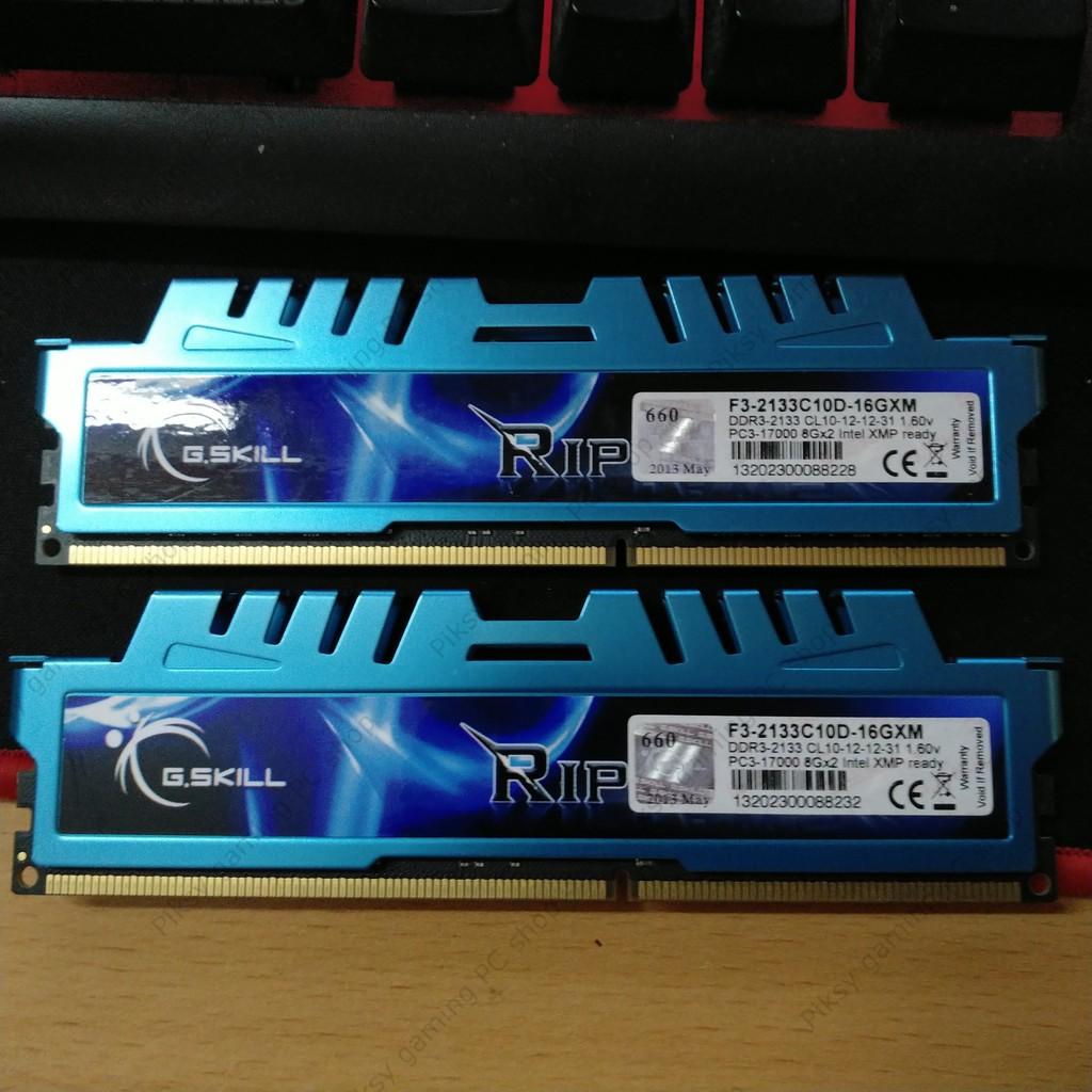 Kit RAM G.Skill Ripjaws X DDR3 2x8GB 2133MT/s (F3-2133C10D-16GXM) Giá chỉ 1.350.000₫