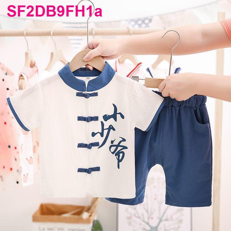 Quần áo trẻ em Hanfu bé trai vừa và nhỏ Bộ đồ lễ phục mùa hè 2020 mới cho Thời trang phong cách Trung Quốc học si
