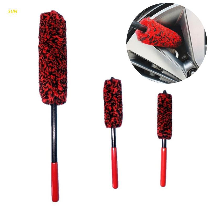 SUN 3pcs Car Tire Detailing Brush Soft Detail Brushes for Clean Hard-to-reach Area