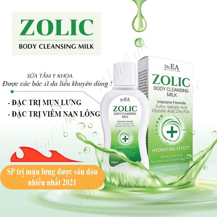 Sữa Tắm Zolic giảm Viêm nang lông,mụn lưng 350ml - Dr EA ZOLIC BODY CLEANSING MILK