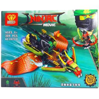 Bộ Lego Xếp Hình Ninjago Siêu Robot Chiến Đấu No.ZB.291B. Gồm 309 chi tiết. Lego Ninjago Lắp Ráp Đồ Chơi Cho Bé
