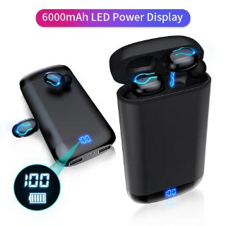 Tai Nghe Bluetooth Q66 V5.0 Kèm Hộp Sạc Chống Nước 6000mah