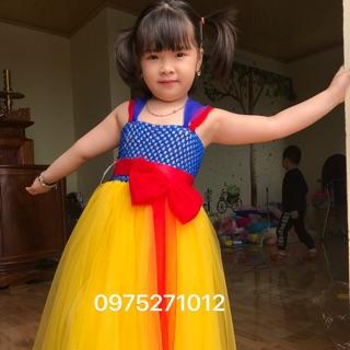 Đầm công chúa cho bé ❤️FREESHIP❤️ đầm công chúa bạch tuyết cho bé yêu