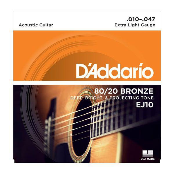Dây Đàn Guitar Acoustic D'Addario EJ10, EJ11, EJ13, EJ26