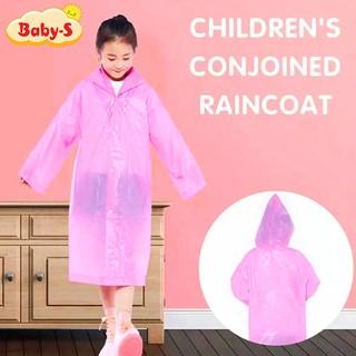 Áo mưa trẻ em nhiều màu sắc đơn giản cho bé 4-10 tuổi Baby-S SAM002 thumbnail