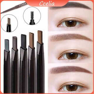 【CCelia】Double-headed Eyebrow Pencil Squeeze Type Refill Eyebrow Pencil Double-headed Dual-use Automatic Rotating Anti-sweat and Non-smudge Band