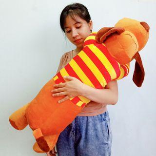 Chó bông gối ôm dài 1m gấu bông cao cấp