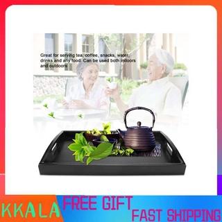 Kkala Rectangle Shape Wooden Tea Coffee Snack Food Meal Serving Tray Plate Restaurant