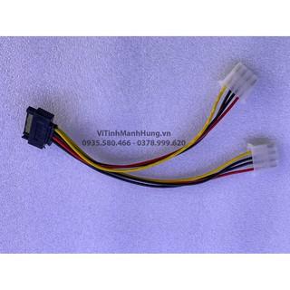 [Mã ELORDER5 giảm 10k đơn 20k] Dây chuyển Sata sang 2 đầu ATA – IDE 4 pin | Sata to 2 ATA IDE 4 pin.
