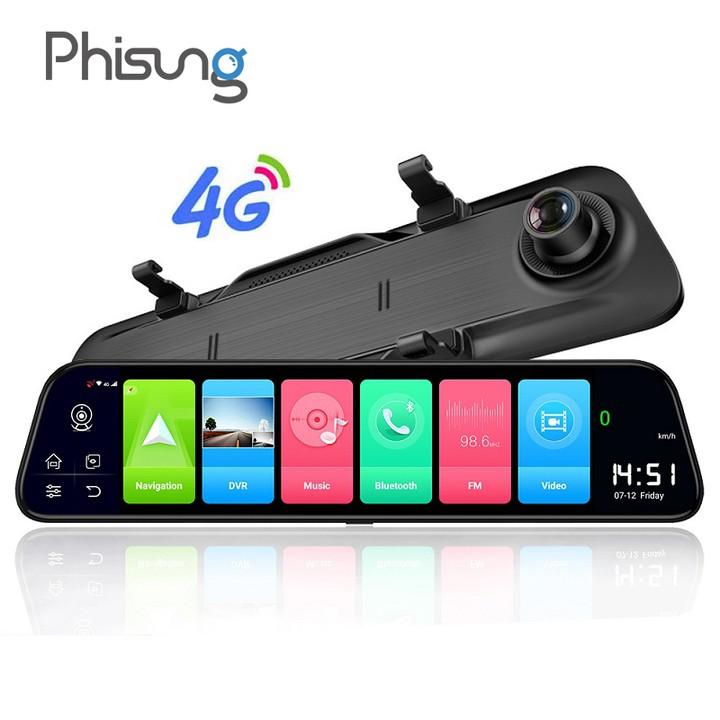 Camera hành trình gương ô tô cao cấp Phisung Z68 Màn hình 12 inch, 4G, Wifi, GPS,... Bảo hành 12 tháng