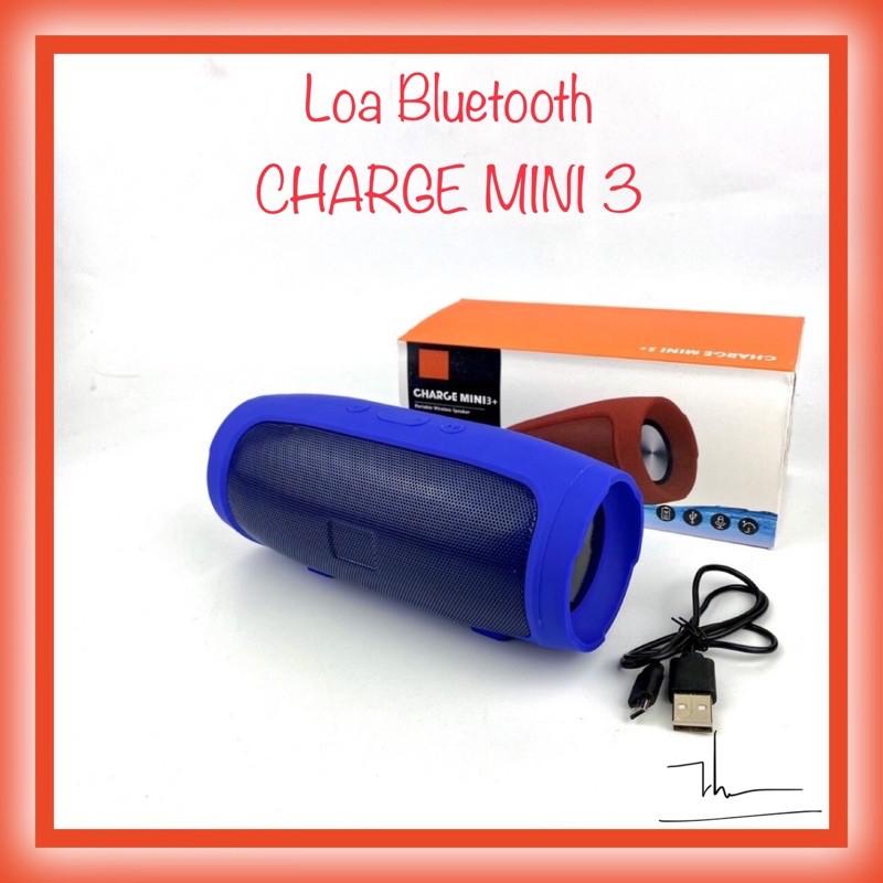 Loa Bluetooth Không Dây Charge 3+  Mini Vỏ Nhôm Âm Thanh Sống Động Hỗ Trợ Khe Cắm Thẻ Nhớ Và USB