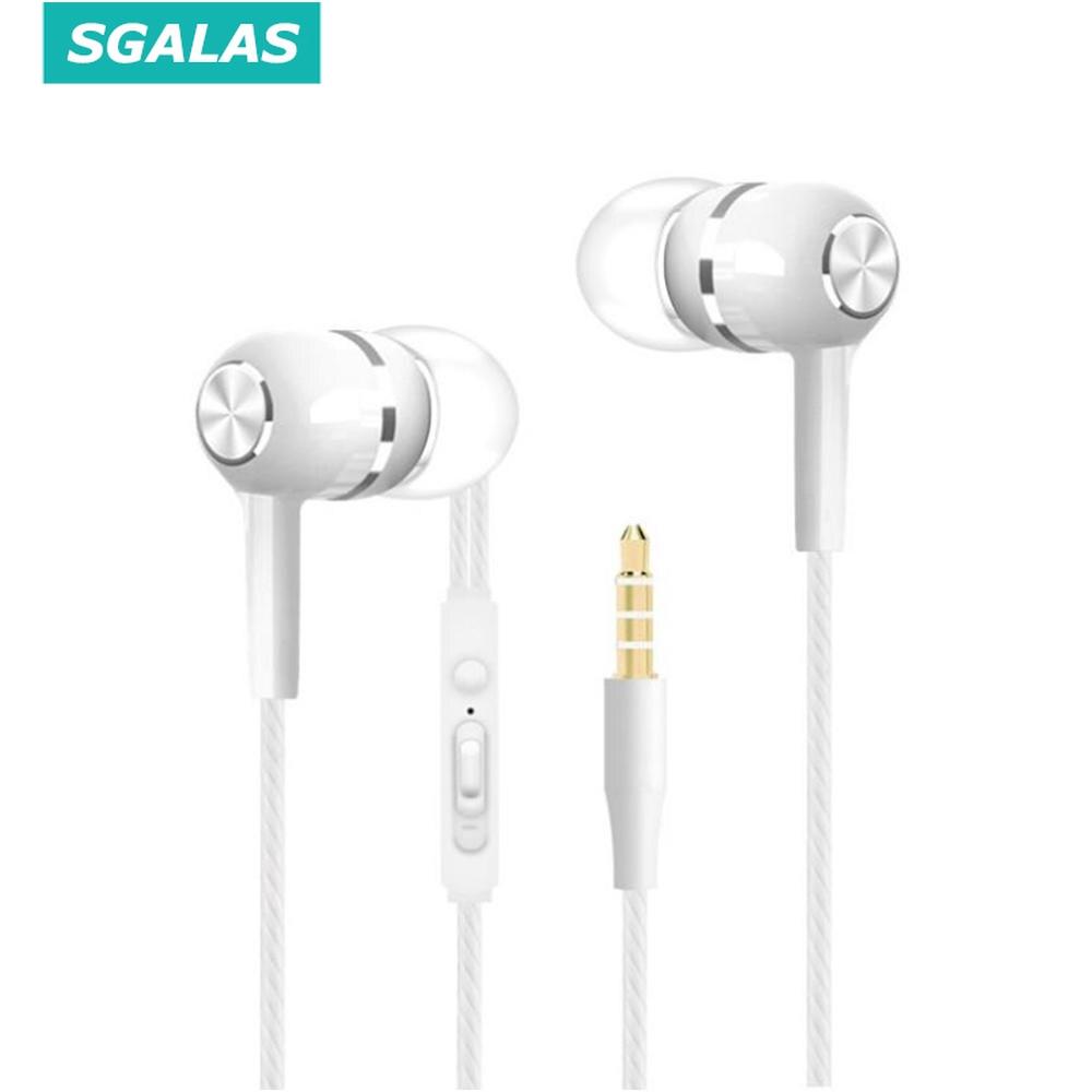 Tai nghe nhét tai SGALAS siêu trầm tích hợp micro 3,5 mm