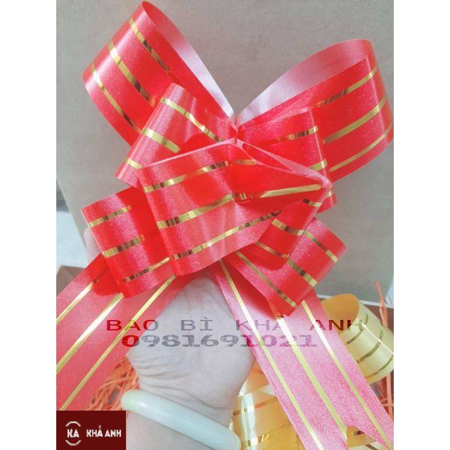🎀🎀 Nơ Rút Trang Trí Giỏ quà Tết siêu Xinh Tết Tân Sửu - bản rộng 4.5cm