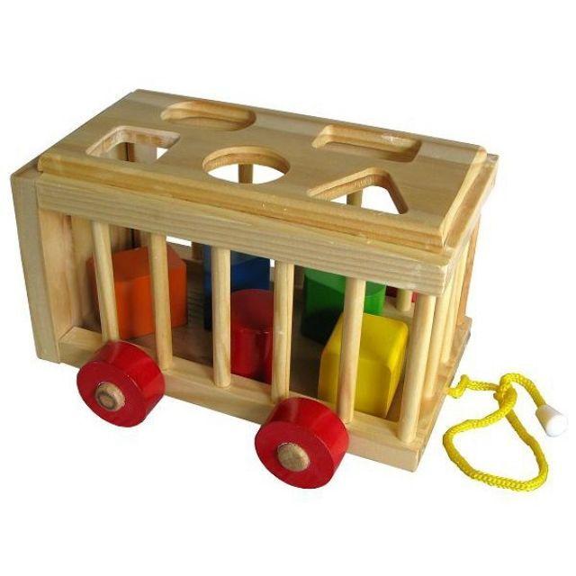 Đồ chơi -Xe Cũi Thả Hình bằng gỗ - Long...