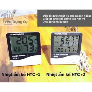 Đồng hồ đo Nhiệt độ, Độ ẩm, Thời gian để bàn HTC - 1, HTC - 2, nhiệt ẩm kế để bàn