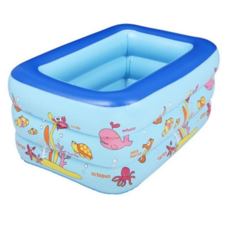 Bể phao bơi 3 tầng hình chữ nhật 1m5 tắm mát cho bé (có sỉ)