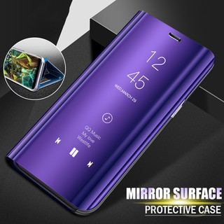 For OPPO R11 A7X RealmePro 2 Plating Flip Smart View Mirror Case Phone Cover