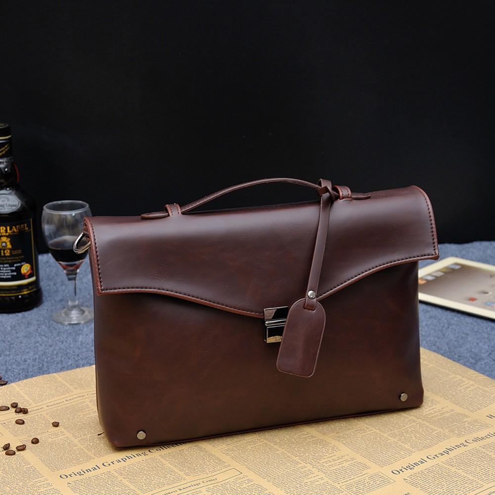 Túi xách, cặp xách nam da cao cấp kiểu dáng HQ -Miumin01