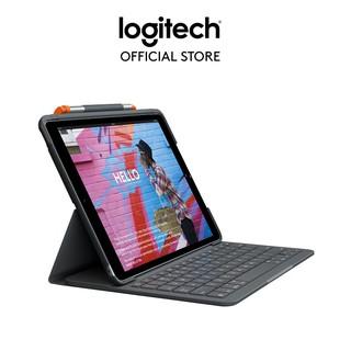 Bao da kèm bàn phím Logitech Slim Folio kết nối bluetooth dành cho iPad Gen7, Air Gen 3 thumbnail