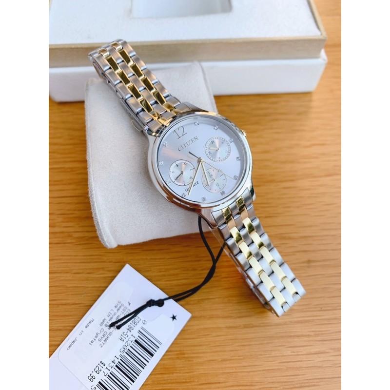 Đồng hồ nữ Citizen Women's Quartz Two-Tone Swarovski Crystal Accent ED