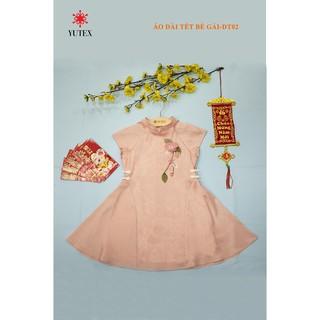 Đầm hồng đính bông-DT02
