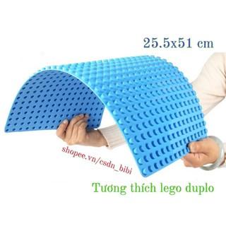 tấm nền 25.5x51cm tương thích lego duplo thumbnail