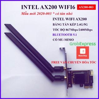 Card wifi ax200 có tản nhiệt nhỏ dành cho máy tính bàn