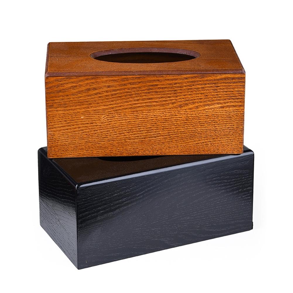 Solid Wood Paper Napkin Case Stylish Home Tissue Box Kitchen Storage Holder Simple