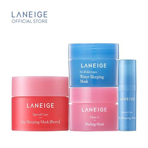 [COSMALL15 -12% ĐH250K]Bộ sản phẩm mini Top mặt nạ dưỡng ẩm tối ưu Laneige