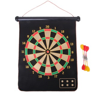 15″ Double-faced Magnetic Dart Board w/ 6 Darts Ages 5 +