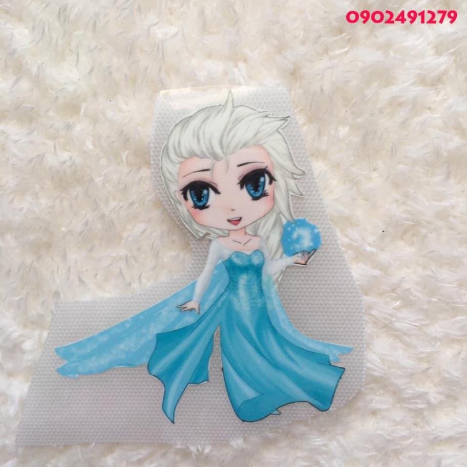 Giá Sỉ] Hình ủi nhiệt - Hình ủi, hình dán nhiệt - công chúa Elsa giá cạnh  tranh